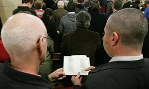 The congregation during a service for the gay community at All Souls Church