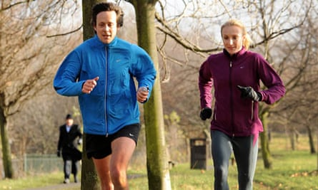 Patrick Barkham and Paula Radcliffe in Regent's Park
