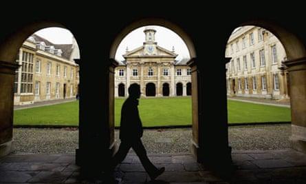 A man at Cambridge University