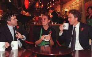 Tony Blair and Gordon Brown in Starbucks
