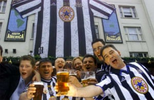 Newcastle United fans before FA Cup final weekend