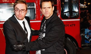 Danny Wallace and Jim Carrey at the UK premiere of Yes Man