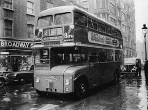Gallery Routemaster: 1956: A prototype Routemaster bus at London Transport Headquarters