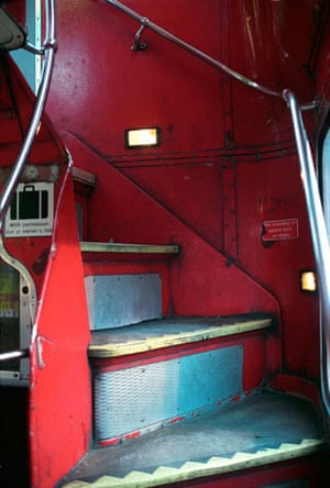 Gallery Routemaster: The stairs in a Routemaster bus