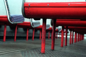 Gallery Routemaster: Seats on the upper deck of a Routemaster bus