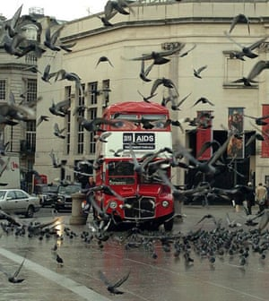 Gallery Routemaster: 2005: The Eye Bus, a Routemaster decorated with watching eyes