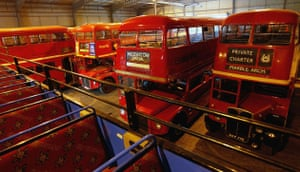 Gallery Routemaster: 2004: Decommissioned Routemaster buses in a garage of Ensign buses