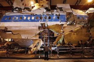 Gallery Lockerbie anniversary: Reconstructed remains of Pan Am flight 103 Lockerbie