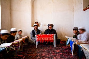 Gallery Life in Lashkar Gah: Young religious students in a madrassa in Lashkar Gah