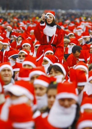 Gallery 22 December 2008: Anattempt to win the Guinness World Record for the most Santas in one town