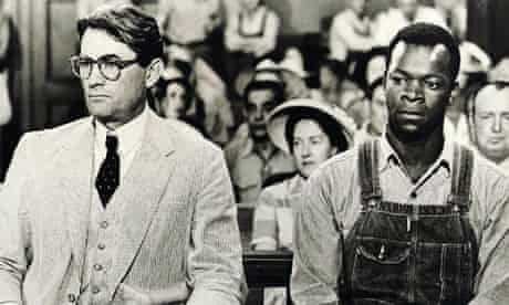 Gregory Peck and Brock Peters in To Kill a Mockingbird (1962).