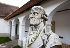 A bust of Haydn at his birthplace in Rohrau, near Vienna