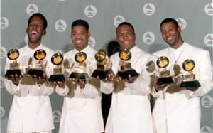 Gallery Motown at 50 : The Boyz II Mepose with their Grammys