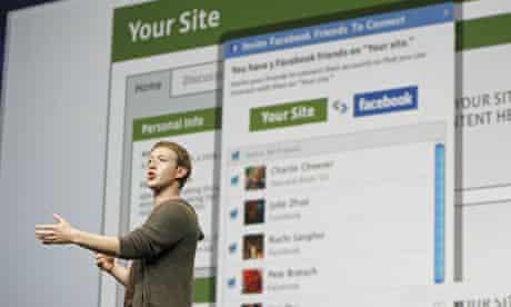 Facebook founder Mark Zuckerberg. Photograph: AP