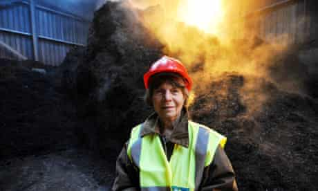 Margaret Drabble at the London Waste compost centre