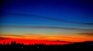 Gallery 24 hours in pictures: The winter sun sets behind the skyline of Los Angeles