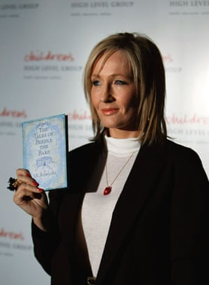 Gallery books 2008 year in review: JK Rowling Arrives At The National Library In Edinburgh