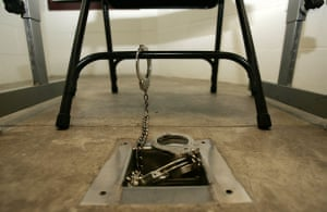 Gallery Guantanamo: Ankle cuffs attached to the floor in an interrogation room at Camp V