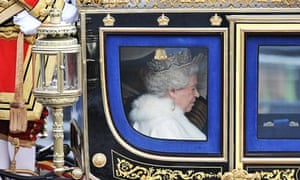 Queen Elizabeth II leaves Buckingham Palace for the State Opening of Parliament