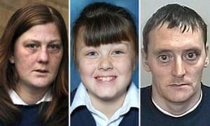 A composite picture of Karen Matthews, Shannon Matthews and Michael Donovan