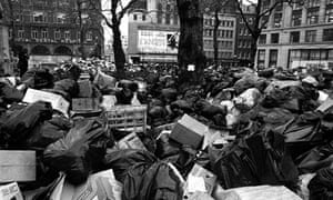 "The ""winter of discontent"" 1978-9 - public service workers on strike"