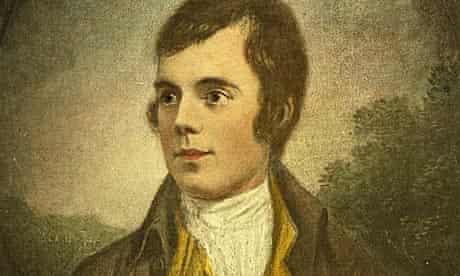 A portrait of Scottish poet Robert Burns