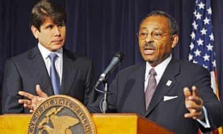 Illinois governor Rod Blagojevich and former Illinois attorney general Roland Burris