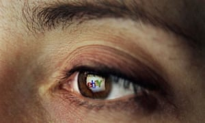 Ebay reflection in the eye of a woman