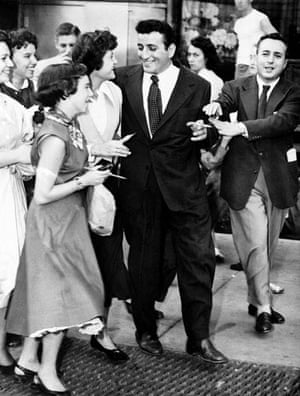 Gallery 1951: Tony Bennett is approached by autograph seekers