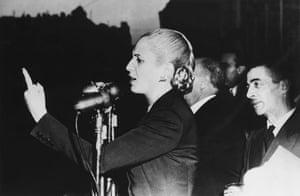 Gallery 1951: Eva Peron giving an election speech