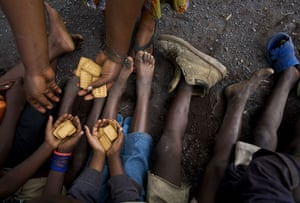 Gallery 24 hours in pictures: Congolese children in Kibati camp