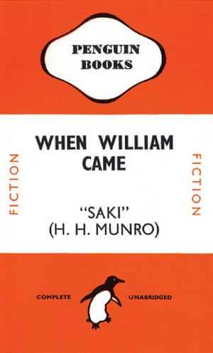 Gallery Tschichold: cover of When William Came by Saki, designed by Jan Tschichold