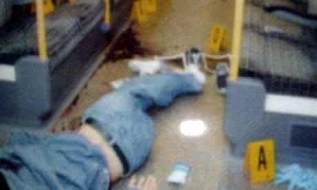 the body of Jean Charles de Menezes on the floor of a tube train in Stockwell station