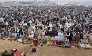 Gallery Eid al-Adha: Afghani refugees offer Eid-al-Adha prayers