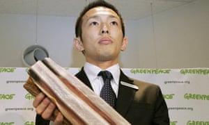 Greenpeace activist Junichi Sato