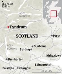Tyndrum location graphic