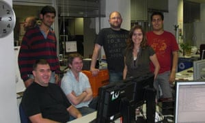 The hardworking blogs launch team.