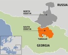 Russia Battles Georgia Over Breakaway Region Of South Ossetia - South ossetia map
