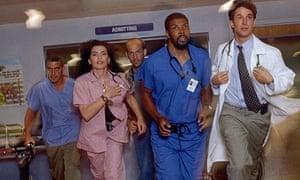 ER, George Clooney, from left, Julianna Margulies, Anthony Edwards, Eriq La Salle and Noah Wyle