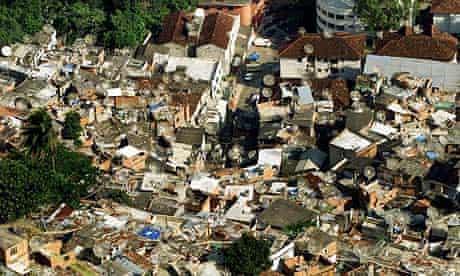 The Dona Marta slum in Rio, Brazil