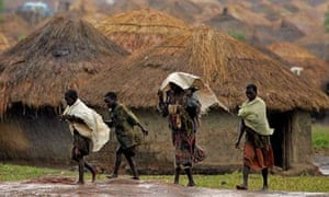 Internally displaced people at a camp in northern Uganda