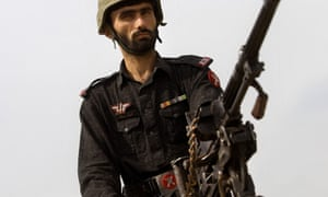 A guard on the Pakistani frontier