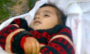 Amal Abed Rabbo, two: one of the children killed during Israeli raids on Gaza