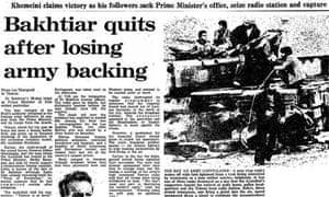Iranian Revolution, 30 years: Bakhtiar quits