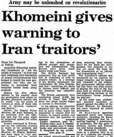 Iranian Revolution, 30 years: Khoemini gives warning