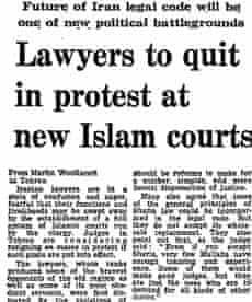 Iranian Revolution, 30 years: Lawyers to quit...