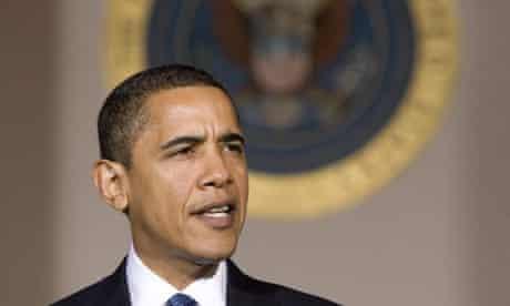 Barack Obama. Photograph: Larry Downing/Reuters