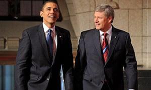 Barack Obama, Stephen Harper, Barack Obama Canada visit