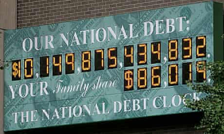 New York's National Debt Clock, which has run out of digits