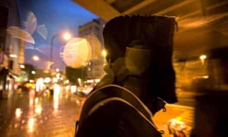 Jami, 23, a failed asylum seeker from Somalia, walks the streets of London